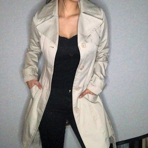 COSTA BLANCA off-white button down trench coat